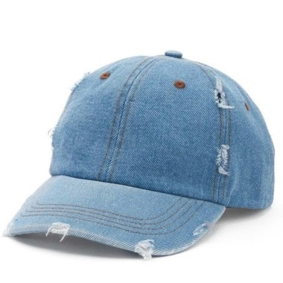 9a6b1ce7cc861 Mudd Destroyed Jean Baseball Cap Adjustable Hat. M 5b8bef8bcdc7f70c061df81a